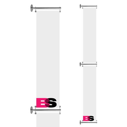Dubbele gevelbanier inclusief systeem 60 cm x 250 cm
