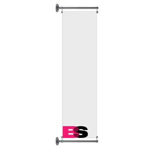 Gevelbanier inclusief systeem 80 cm x 300 cm Incl. verlichting