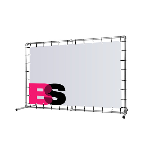 Aluminium display inclusief spandoek